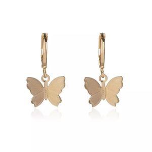 Butterfly Gold Plated Personality Hoop Earring